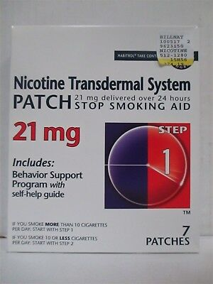 HABITROL TAKE CONTROL NICOTINE PATCH STEP 1 21mg EXP: 5/18+  RC 6073