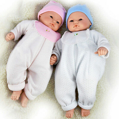 """18"""" Hand Made Lifelike New Born Baby Doll in Swaddle Blanket Laughing Sounds"""