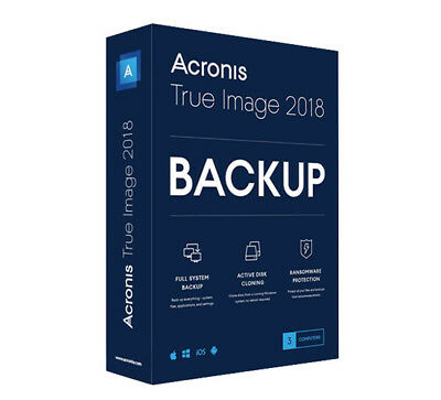 Acronis True Image 2018, 3 User, Box, deutsch, PC/​MAC, TI3OB2DES (TI3XB2DES)