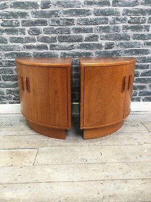 Stylish Mid Century Retro Pair Of G Plan Bedside Cupboards Cabinets