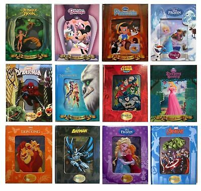 New 3D, Disney Fairy Tales Magical Story Books Lenticular Bed time stories Gift