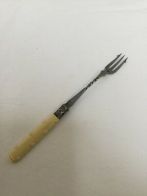 Unusual Antique Chinese Silver Pickle Fork Chinese Hallmarks