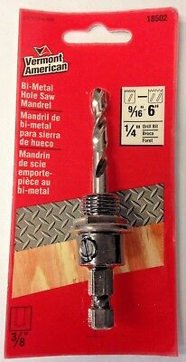 "Vermont American 18502  9/16""  to 6""  Hole Saw Mandrel"