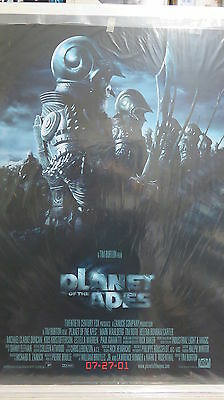 PLANET OF THE APES Original Movie Poster DS 27x40 Wahlberg FREE STAR WARS POSTER