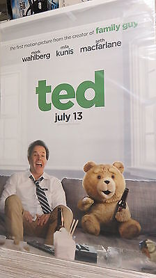 TED Original Movie Poster DS 27x40 Mark Wahlberg FREE MARVEL POSTER
