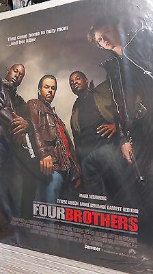 FOUR BROTHERS Original Movie Poster DS 27x40 Mark Wahlberg FREE MARVEL POSTER