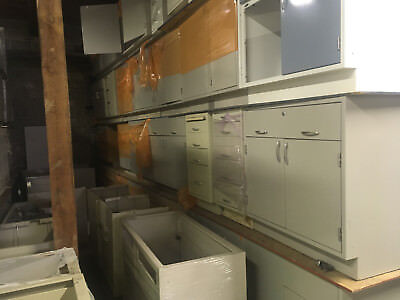 50 Feet of Metal Casework Benches, Duralab, Kuwaunee and Hamilton $90/foot