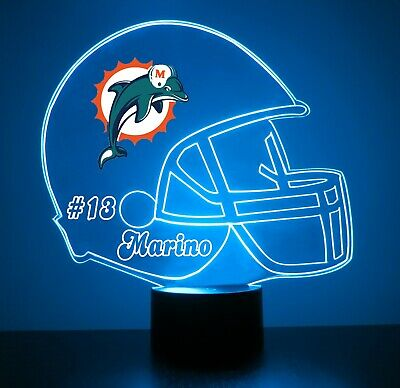 Miami Dolphins Night Light Lamp Personalized FREE NFL Football Light Up