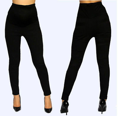 Black Skinny Maternity Pants Pregnancy Bottoms Work Attire Casual Pants
