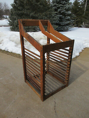 Antique Letterpress American Type Founders 12 Slot Case Rack / Cabinet
