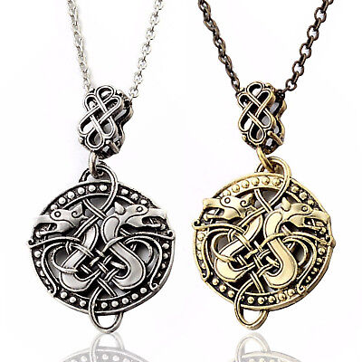 Viking Celtic Knots Dragon Fashion Pendant Necklace Norse Nordic Jewelry UP