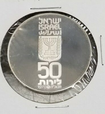 1978 Israel Independence Day    Proof Coin A People Re-United With Its Land