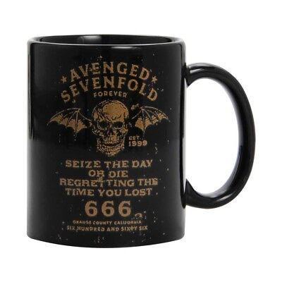 Avenged Sevenfold Seize The Day Coffee Mug Boxed Mug M. Shadows Black Boxed