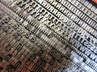 Letterpress Lead Type 14 Pt. Franklin Gothic Condensed ATF # 163    M11