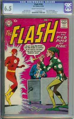 Flash #106 Cgc 6.5 Cr/ow Pages