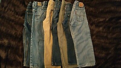 Boys 4t assorted name brand jeans/pants lot pre-owned