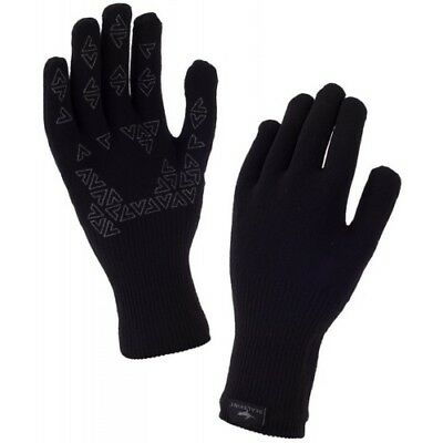 Sealskinz Ultra Grip Gauntlet Mens Gloves - Black All Sizes