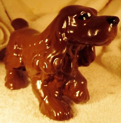 Dog Figurine SUSSEX SPANIEL Porcelain Standing 1940's England EXCEPTIONAL