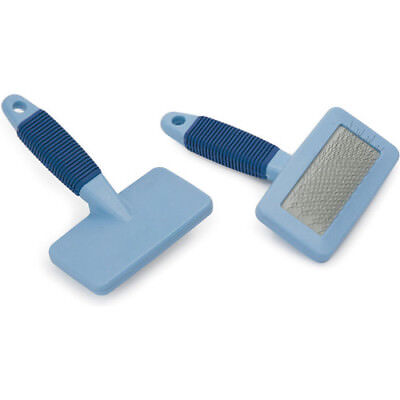 Shires Hook And Loop Unisex Horse Boot Velcro Brush - Blue One Size