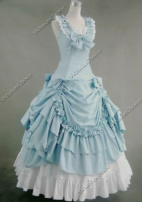 Victorian Southern Belle Princess Old West Prom Dress Ball Gown Theater N 081 XL