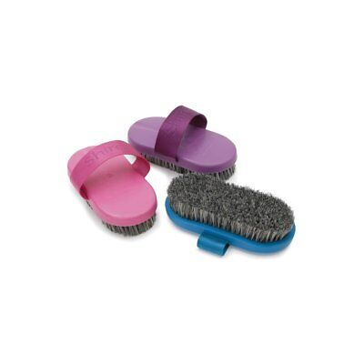 Shires Pig Hair Unisex Horse Care Body Brush - Pink One Size