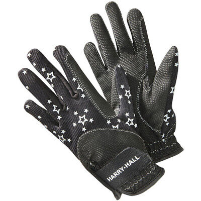 Harry Hall Roxby Children's Kids Gloves Everyday Riding Glove - Black All Sizes
