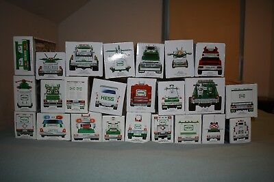 Hess Truck Collection Lot of 25 toy trucks - 1991 to 2015