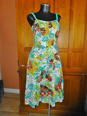 bd3f611642 Vtg 70s De Weese Swim Beach Wear HAWAIIAN Beach Party Floral Pinup DRESS !