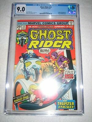 Ghost Rider # 13 Cgc 9.0 Ow/wh - Trapster, Stunt-Man & Karen Page Appearance!!!!