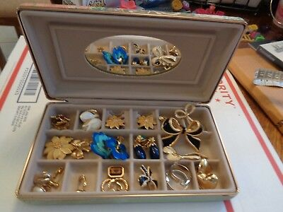Vintage AVON Lot of jewelry plus jewelry case