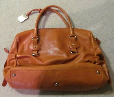 Furla Orange Leather Shoulder Bag / Shopper / Tote with Hang Tag