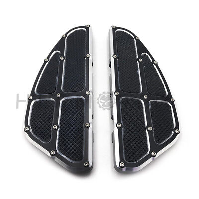 Rear Passenger Foot Pegs Floor Board Black For Harley Touring 1993-2017