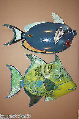 "(2)pcs,SEAFOOD RESTAURANT WALL DECOR, LIFELIKE TROPICAL FISH WALL, 12"", F-79,68"