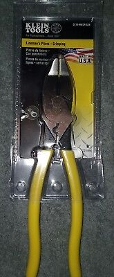 "Klein tools- Linemans Pliers-Crimping 9"" (NEW)"