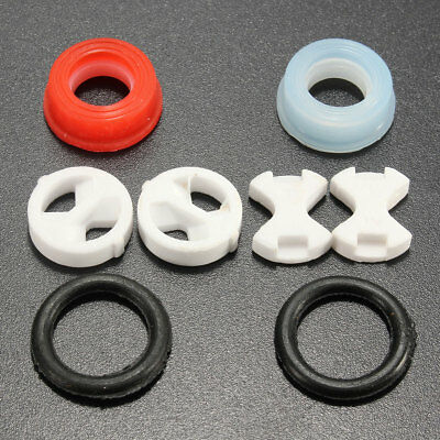 8pcs Set Ceramic Disc Silicon Washer Replacement Parts For Valve Tap