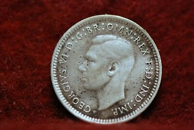 Australia, 1943-S 3 Pence, silver, Fine, heavy cleaning, No Reserve,        11eb