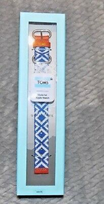 TOMS Blue and White Woven Apple Watch Band 38mm-NEW