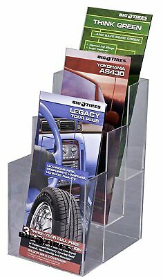 Clear-Ad - LHF-S103 - Acrylic 3 Tier Trifold Brochure Holder - Plastic Display 4