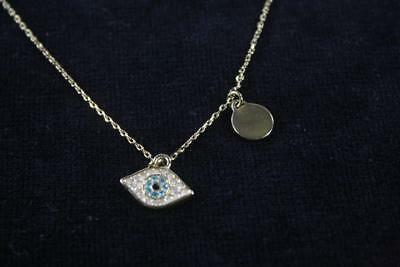 Juicy Couture Sequin Eye Pendant Gold Tone Chain Necklace