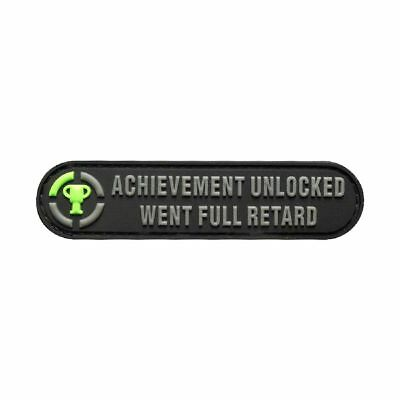 Achievement Unlocked Went Full Morale PVC PATCH (PVC-3.5 X 0.75) BY MILTACUSA