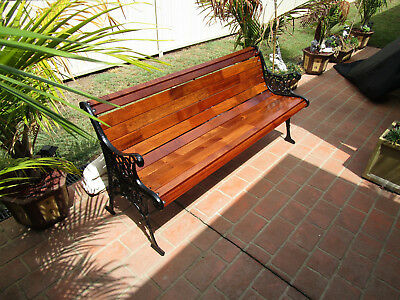 Cast Iron Garden Seat Park Bench