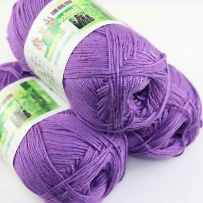 AIP Sale 3Skeins x50g Soft Bamboo Cotton Baby Wrap Hand Knitting Crochet Yarn 22