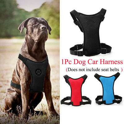 Breathable Nylon Air Mesh Dog Car Harness Seat Belt Clip Safety Lead For Dogs