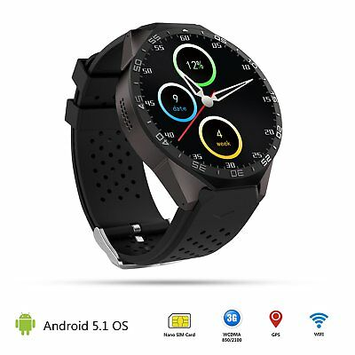 3G Smart Watch Android 5.1 Quad Core 4GB Bluetooth WIFI GPS Camera For Phone IOS