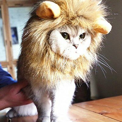 Idepet Funny Dog Cat Lion Mane Furry for Halloween Christmas Party Festival Pet
