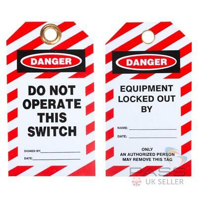 Lockout Tagout Tags - Do Not Operate this Switch - Pack of 10