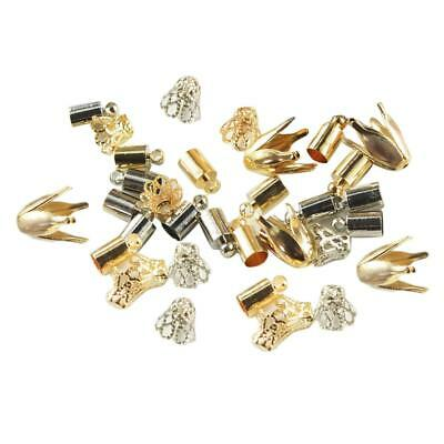 50pcs Gold Silver Flower Bead Cap End Caps Jewelry Making Craft DIY Findings