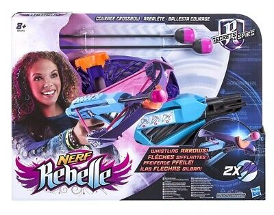 Nerf Rebelle Secret & Spies Courage Crossbow With 2 Arrows Kids Outdoor Toy 8+