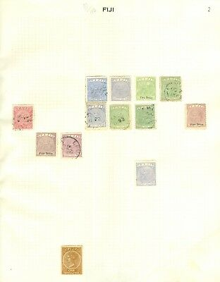 Fiji collection. Mint & used on 5 album leaves. 1871-1940. Nice clean lot
