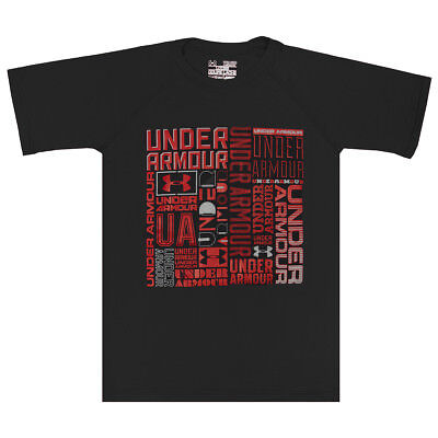 Under Armour Boys' Heatgear Graphic T-Shirt Charcoal/Red M